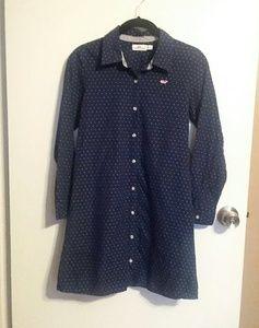 Girls Vineyard Vines Polka Dot Shirt Dress